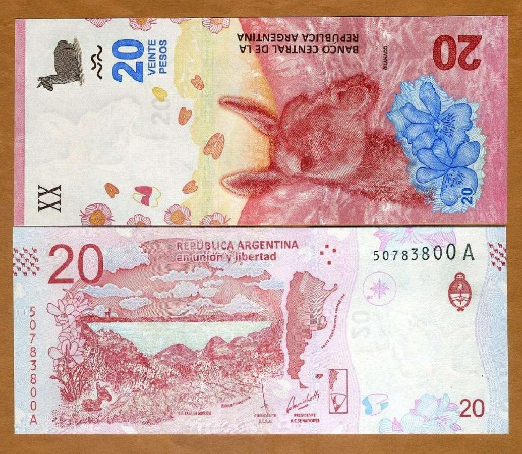 Argentina 20 Pesos 2017m. P-new Unc