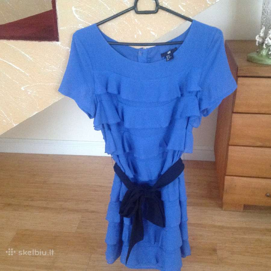 Indigo spalvos suknelė