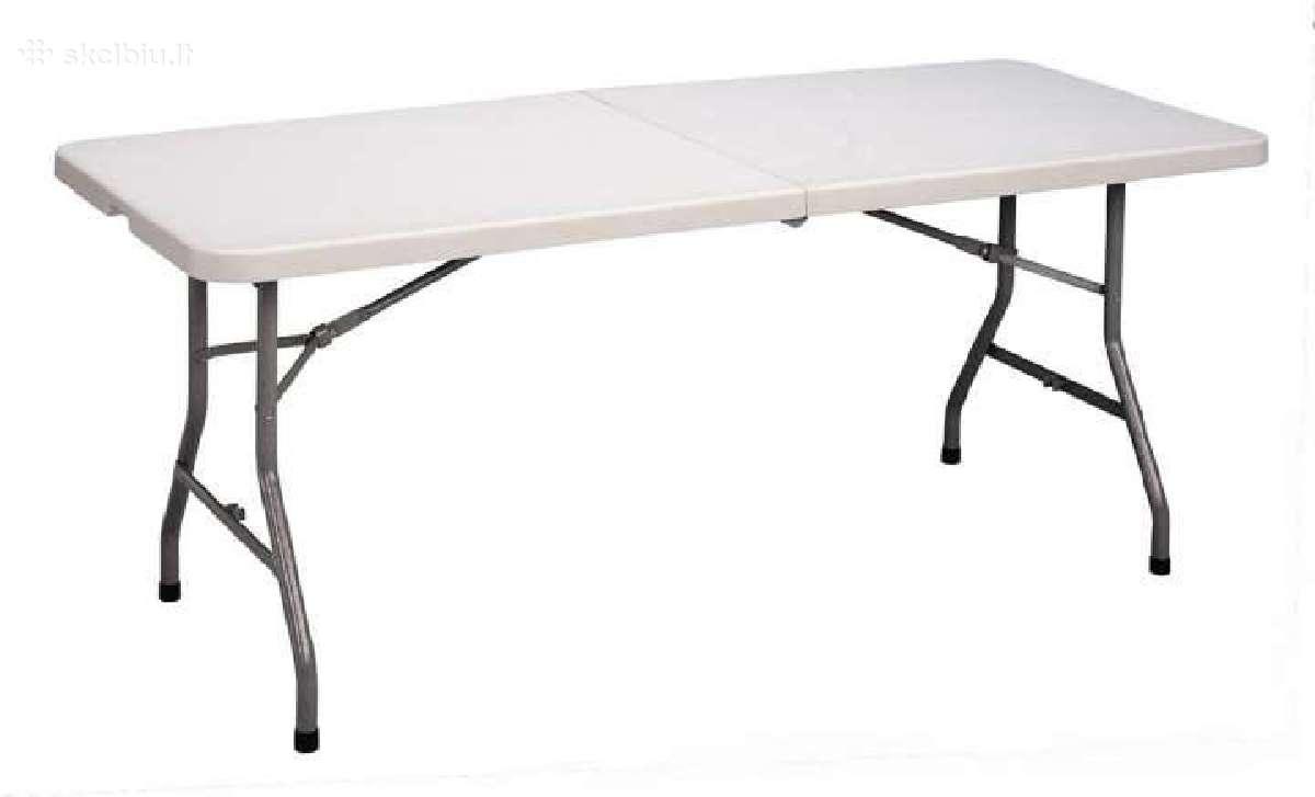 Prekybiniai, sulankstomi stalai, suolai, kėdės