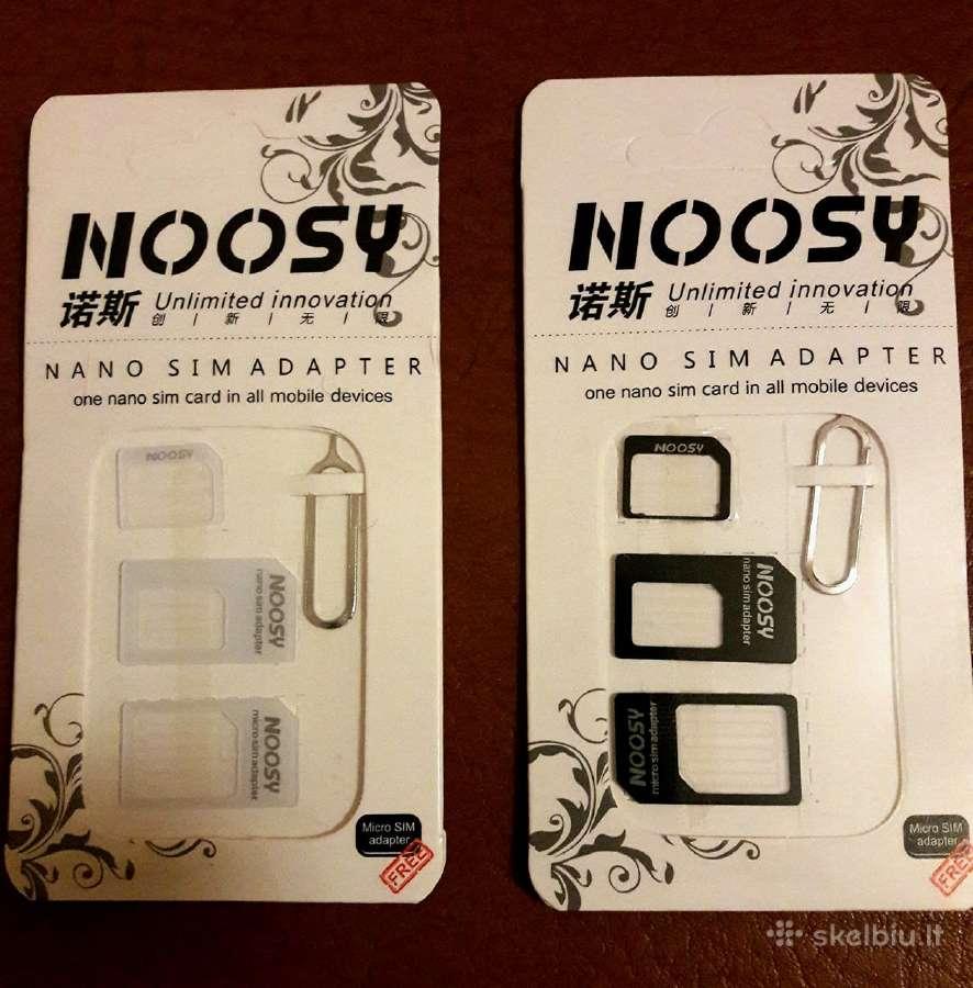 Adapteris Nano ir Micro Sim kortelėms