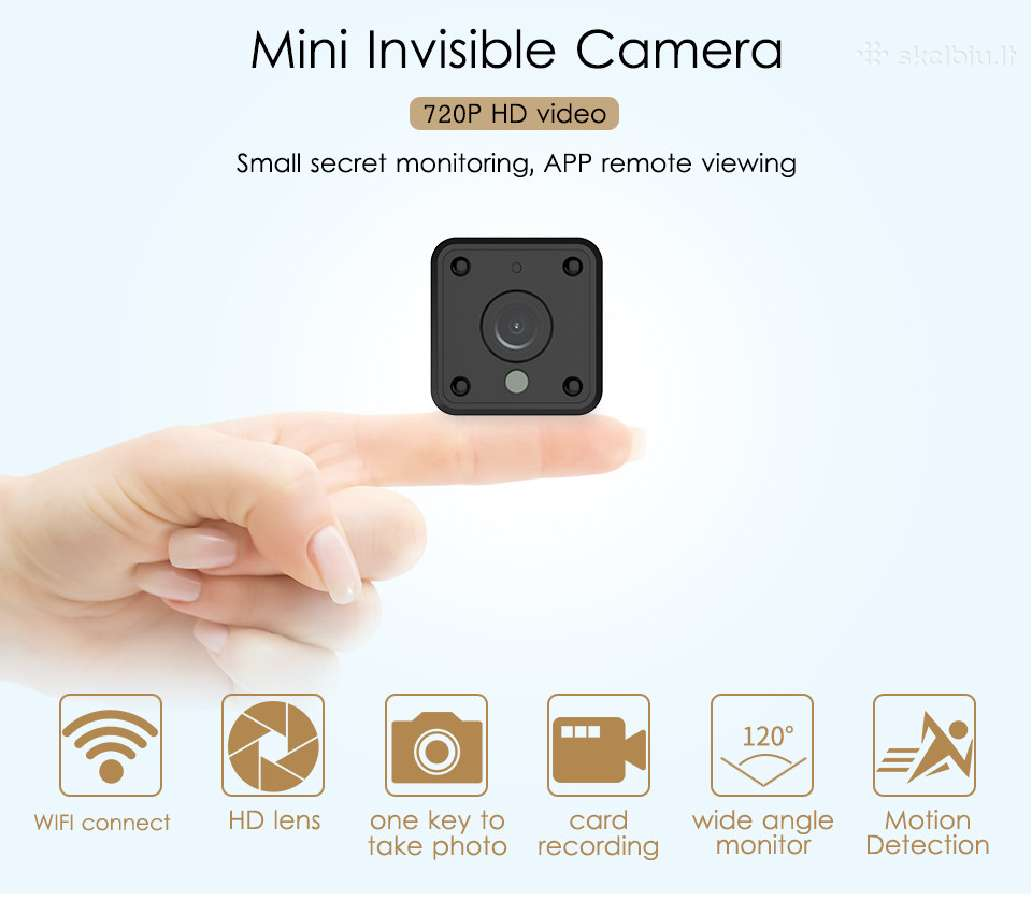 WiFi Mini Ip HD kamera