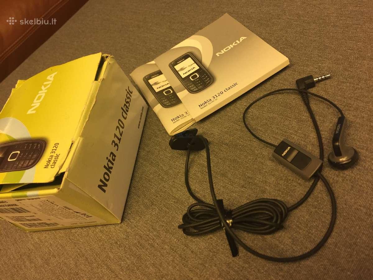 Nokia 3120 dėžutė, vartotojo vadovas bei ausinės