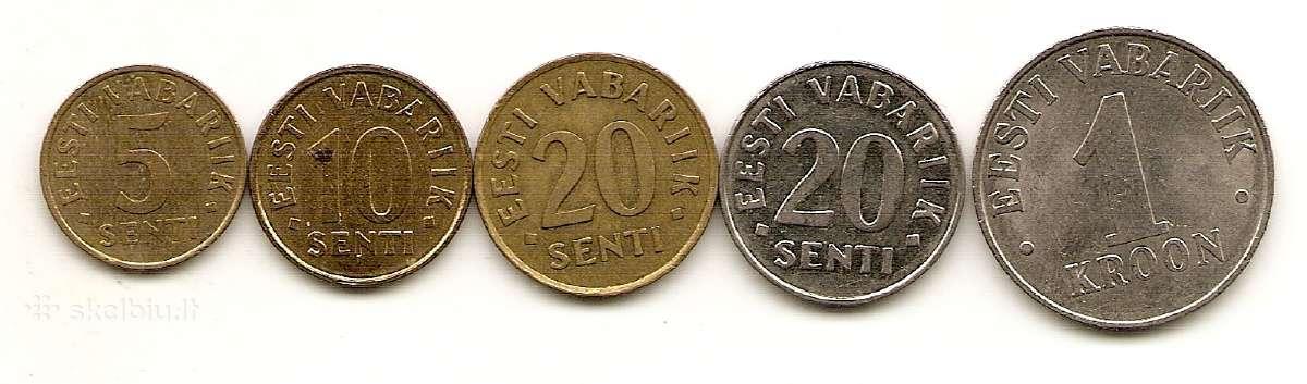Estijos monetu rinkinukas