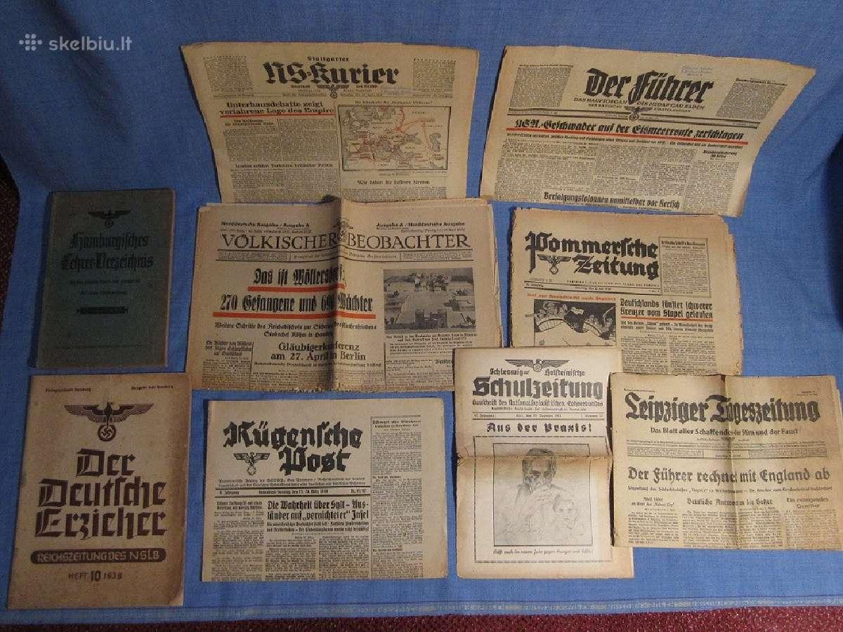 Įvairūs vokiški dokumentai, spauda: