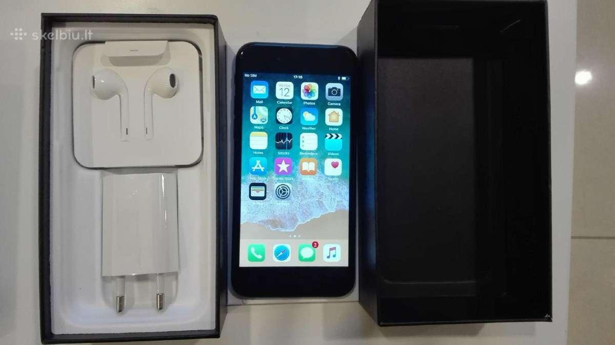 iPhone 7 Juodas - 32 GB Idealus -3 men. Garantija!