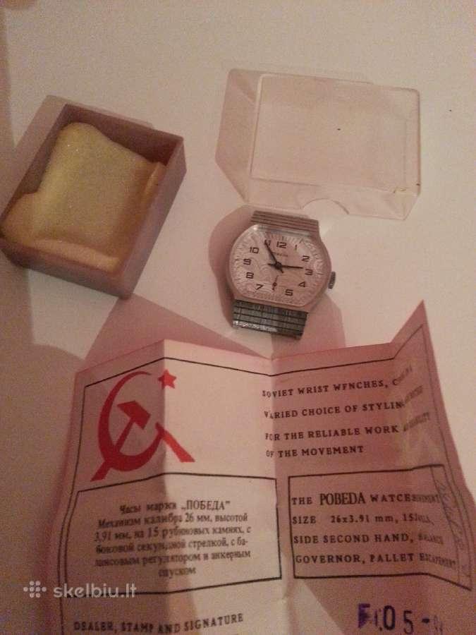 Naujas tarybinis rankinis laikrodis pobeda
