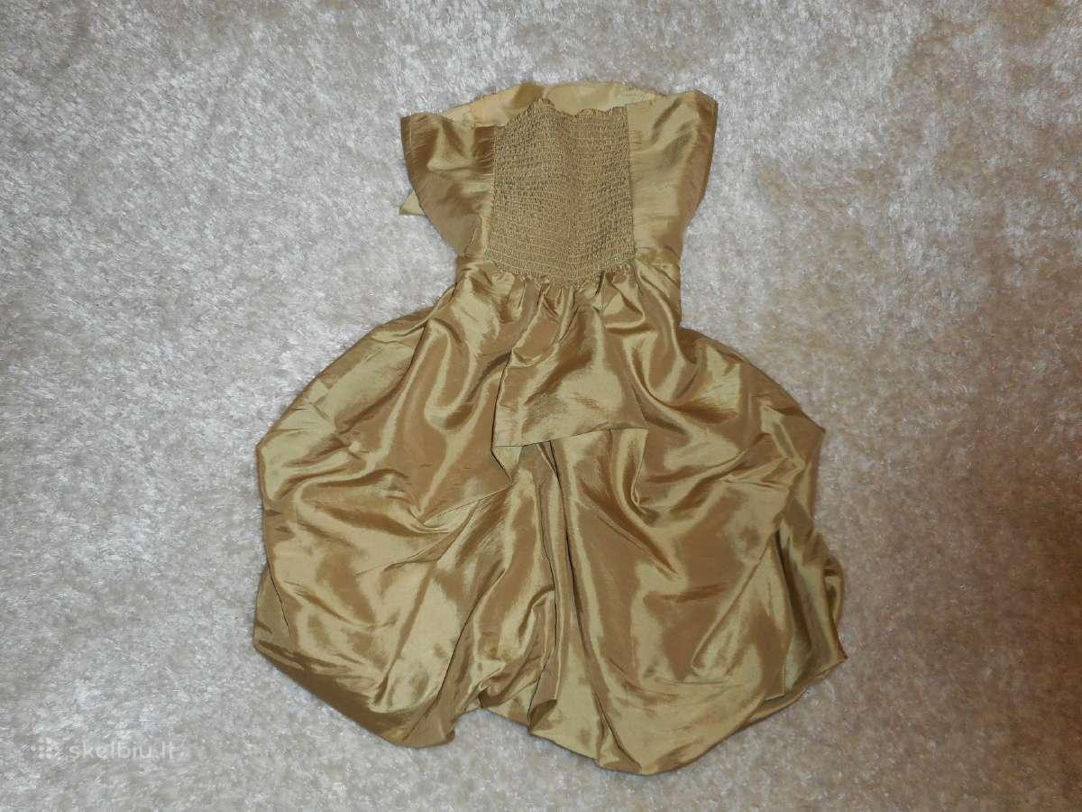 Aukso spalvos proginė suknelė