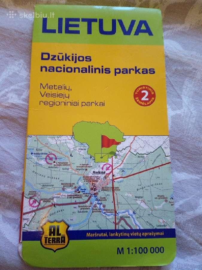 Dzūkijos nacionalinio parko turistinis žemėlapis