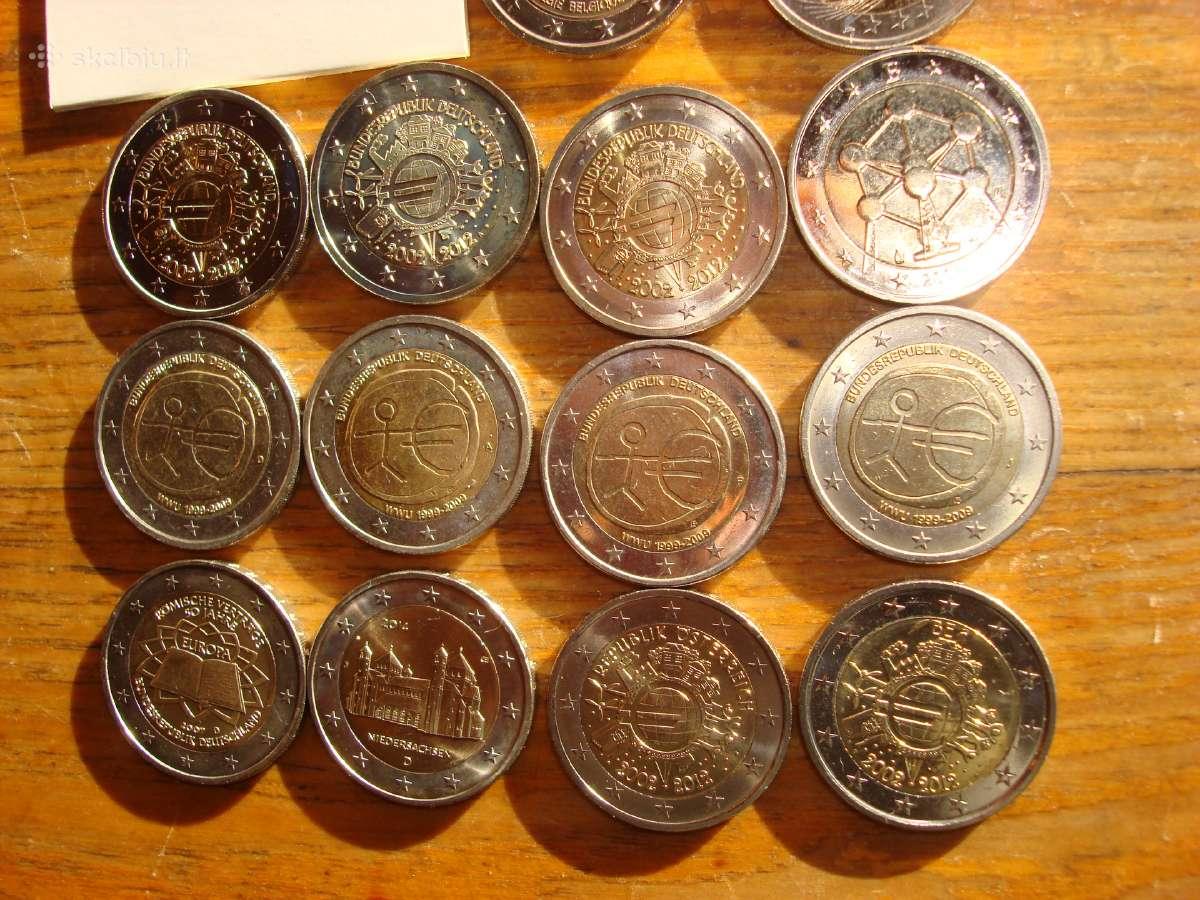 2euru progines monetos