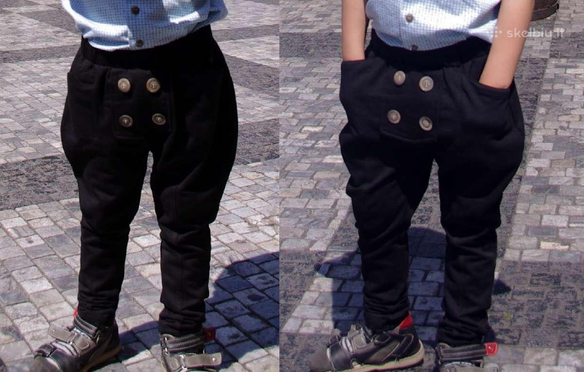 Juodos hareminės kelnės 120cm (116 dydis)