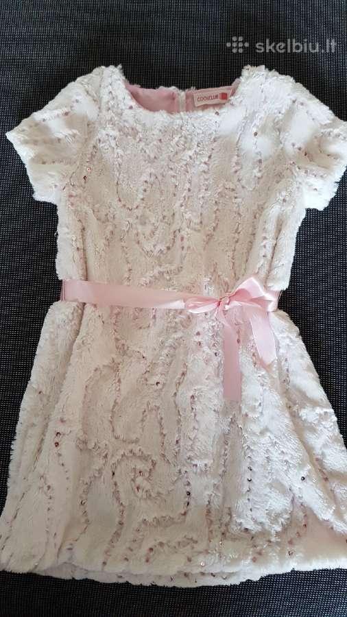 Puošni suknelė mergaitei 128 cm.