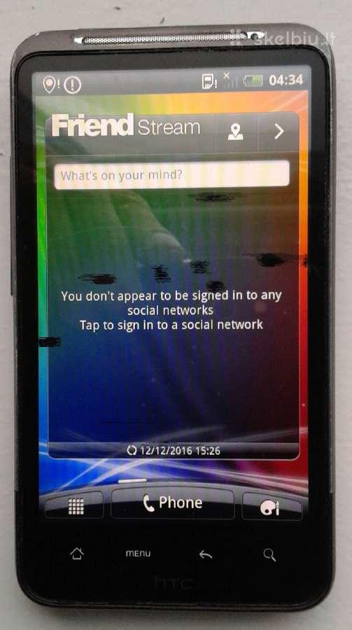 HTC desire HD, viskas veikia, ekranas su demem