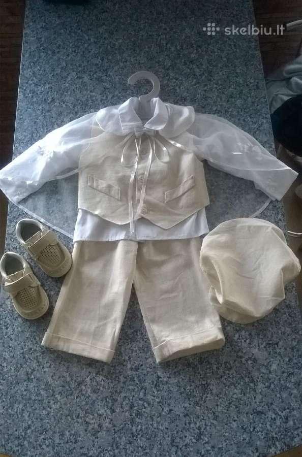Lininiai kriksto rubeliai berniukui+batai