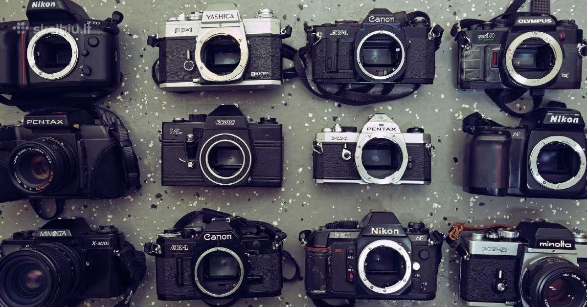 Daugubė juostinių fotoaparatų+ optika