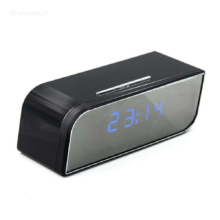 Laikrodis su slapta kamera ir WiFi