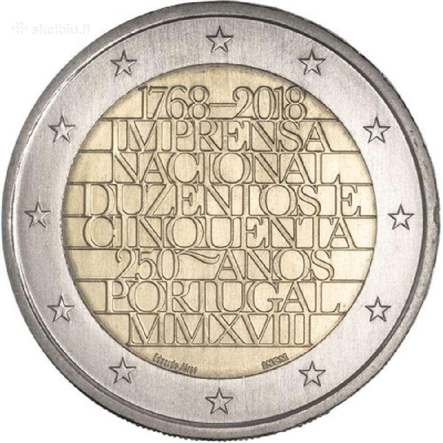 Portugalija 2 euro monetos Unc