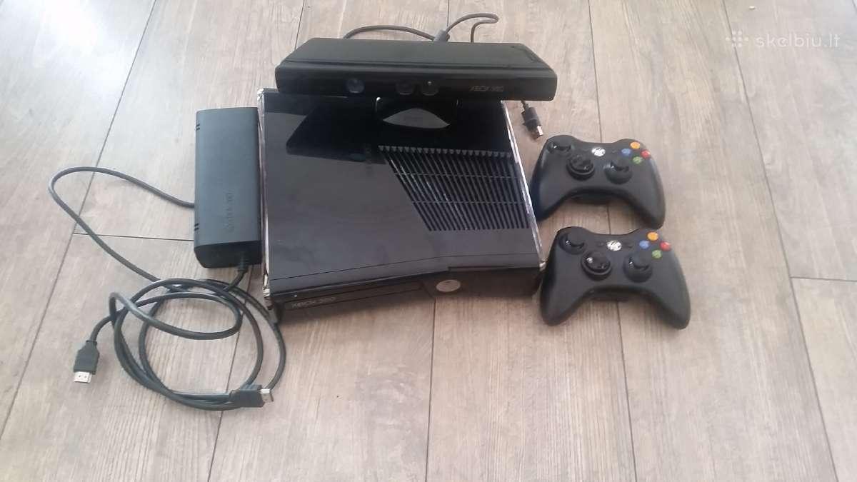Xbox 360 slim Atristas, Rgh, Kinect, 2 pulteliai