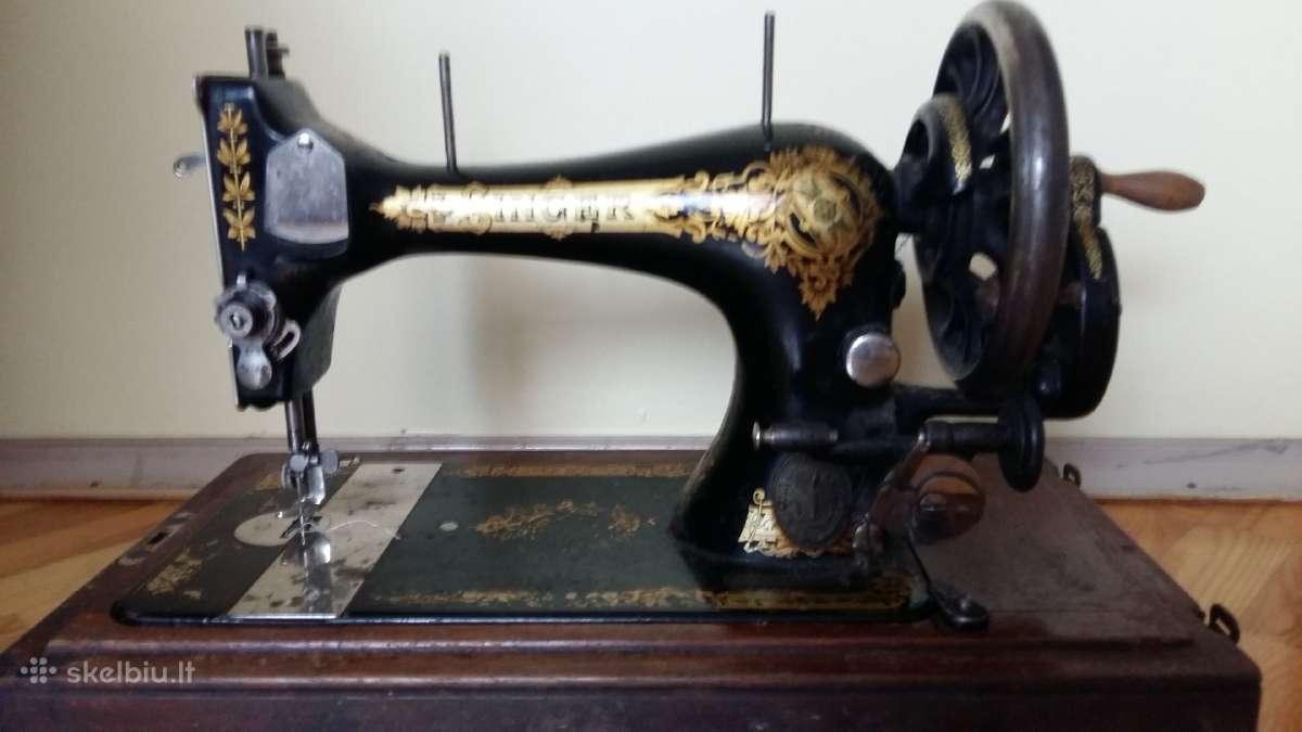 Antikvarinė rankinė siuvimo mašina Singer