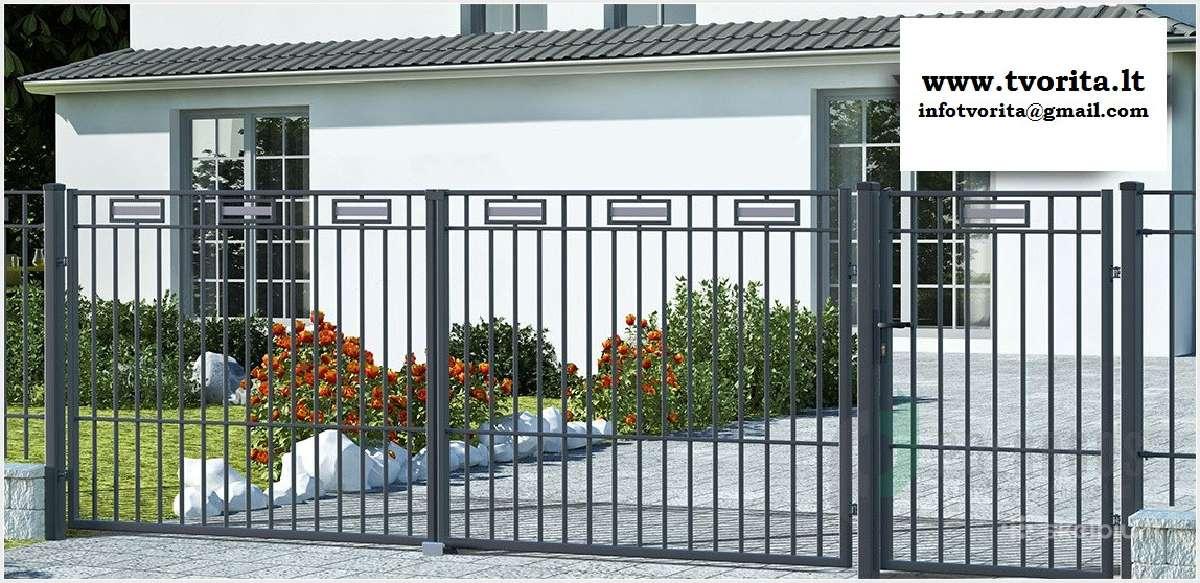 Metalinės tvoros vartai, varteliai, automatika