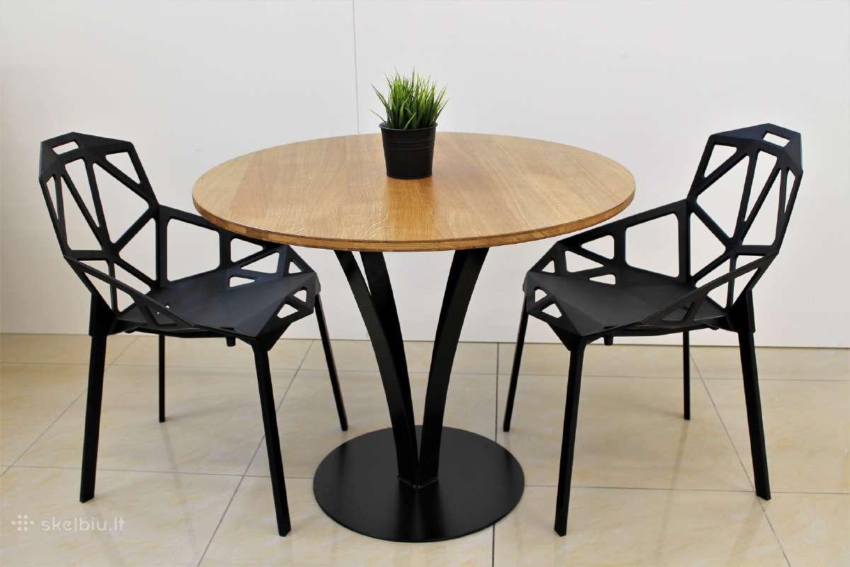 Virtuvės stalas, svetainės stalas, apvalus stalas.