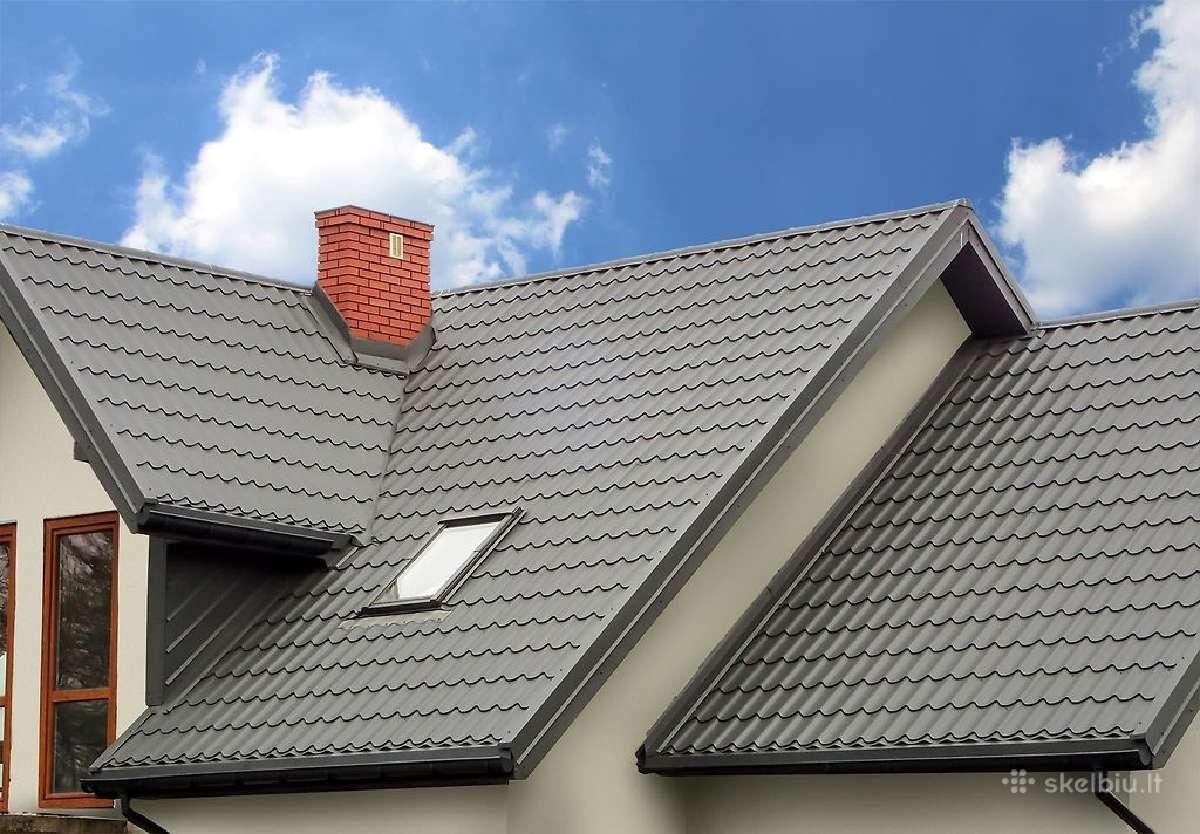 Plieninės stogų dangos - nuo 5.99 Eur/m2