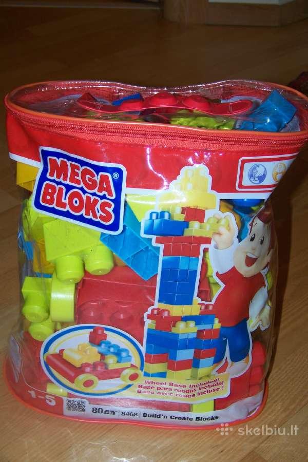Mega Blocks naudotos kaladelės.