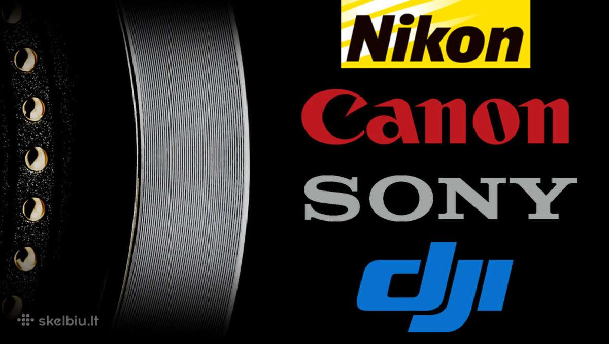 Atnaujinta foto - video - audio - 360 įranga