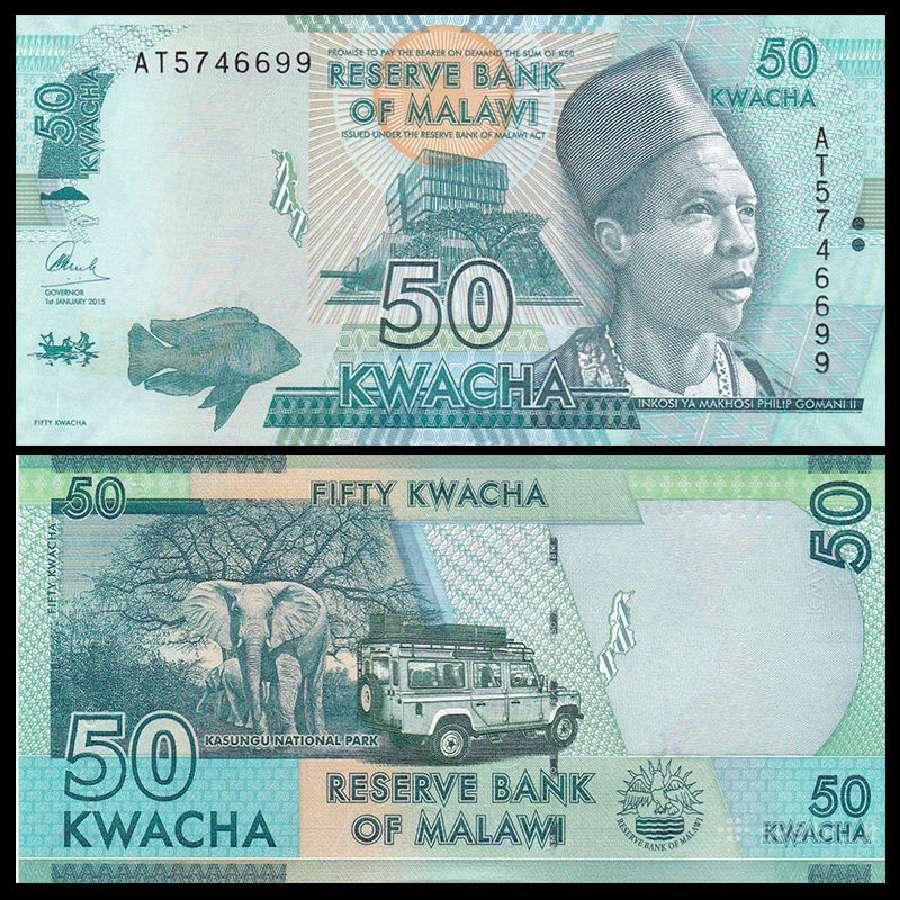 Malavis 50 Kwacha 2015m. P64b Unc