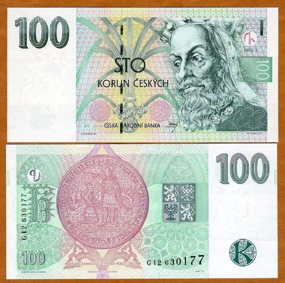 Čekija 100 Korun 1997m. P18 Unc