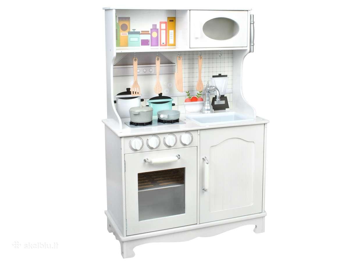 Medinės virtuvėlės su priedais