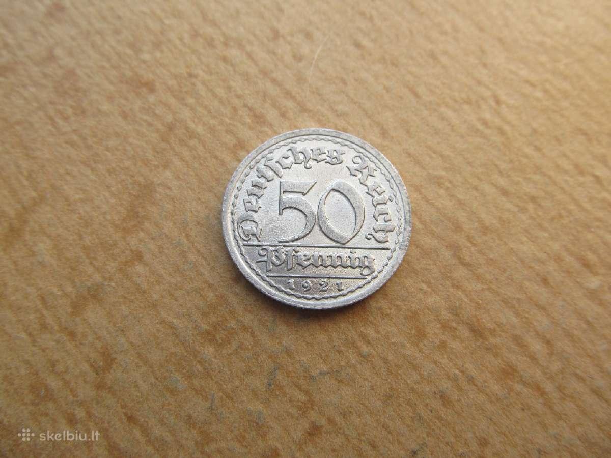 50 pfennig , Vokietija, 1921 J