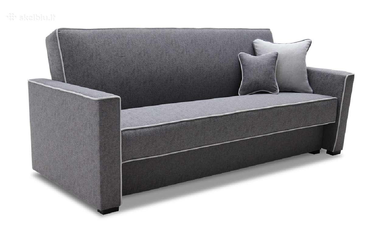 Sofa Max su miegamu mechanizmu ir patalynės dėže