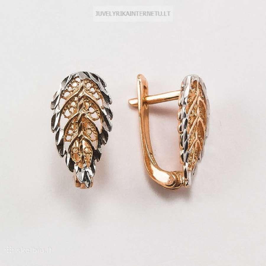 Auksiniai auskarai - geromis kainomis!