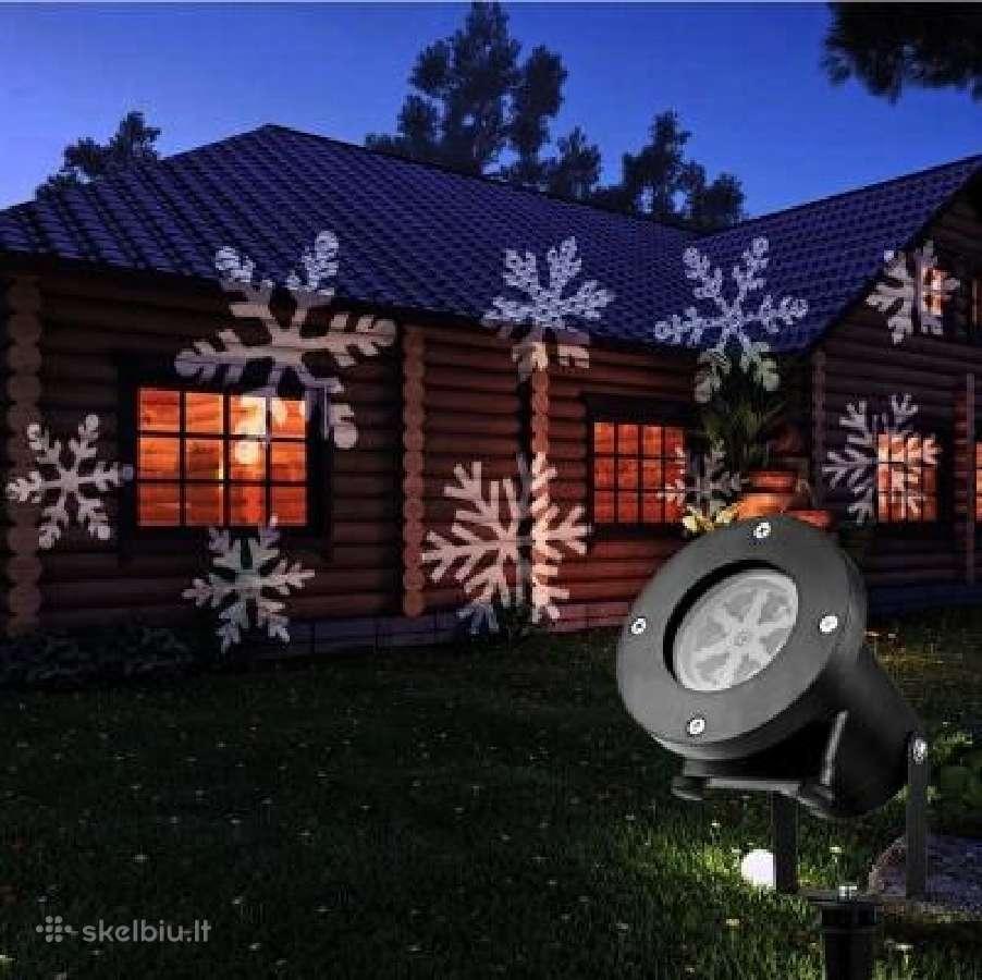 Kalėdinis lauko lazerinis projektorius Snaigės