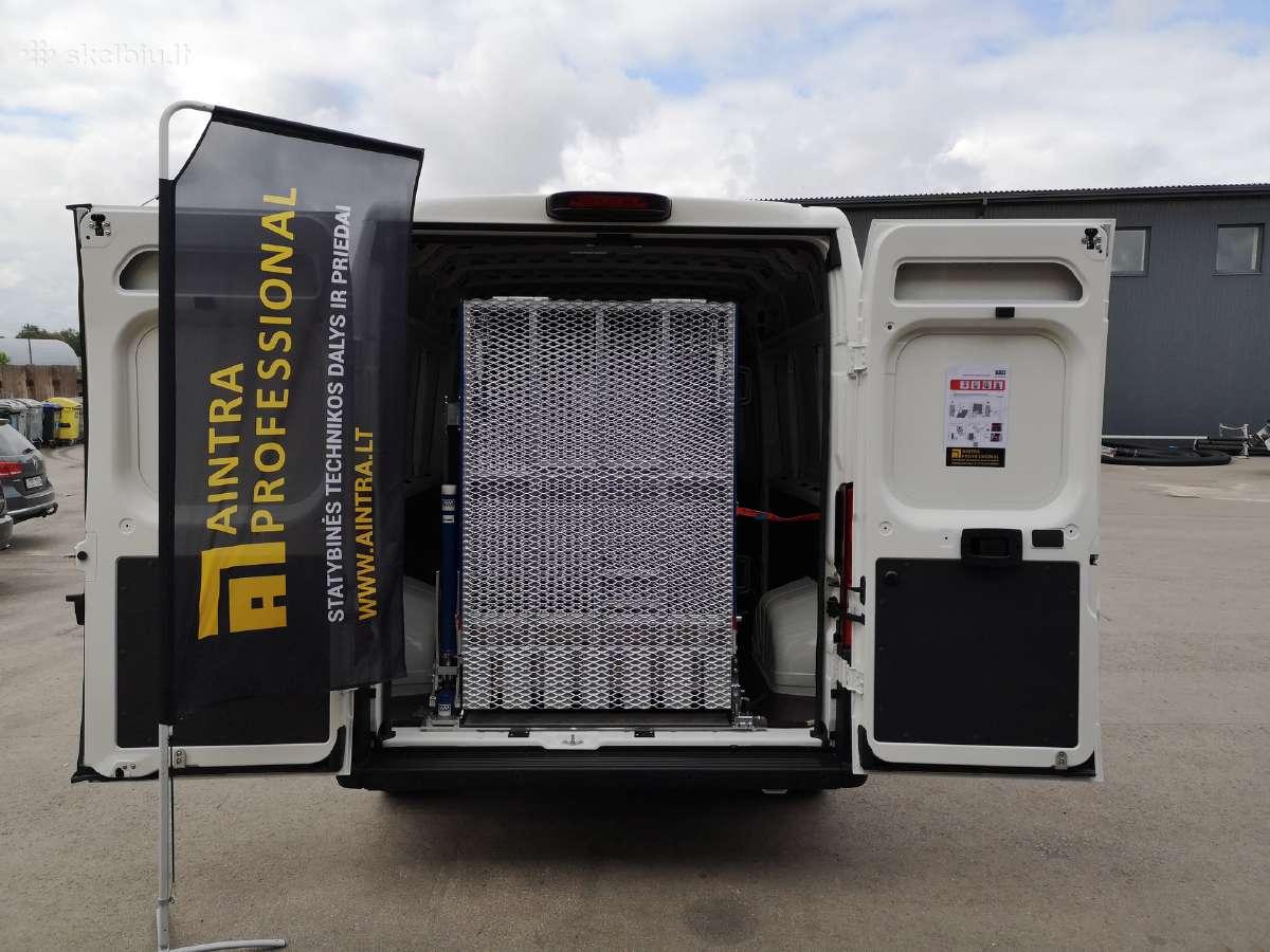 Aliuminė pakrovimo rampa mikroautobusams