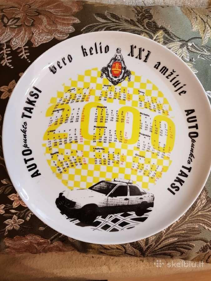 Pakabinama lėkštė- Kalendorius autopunkto taksi