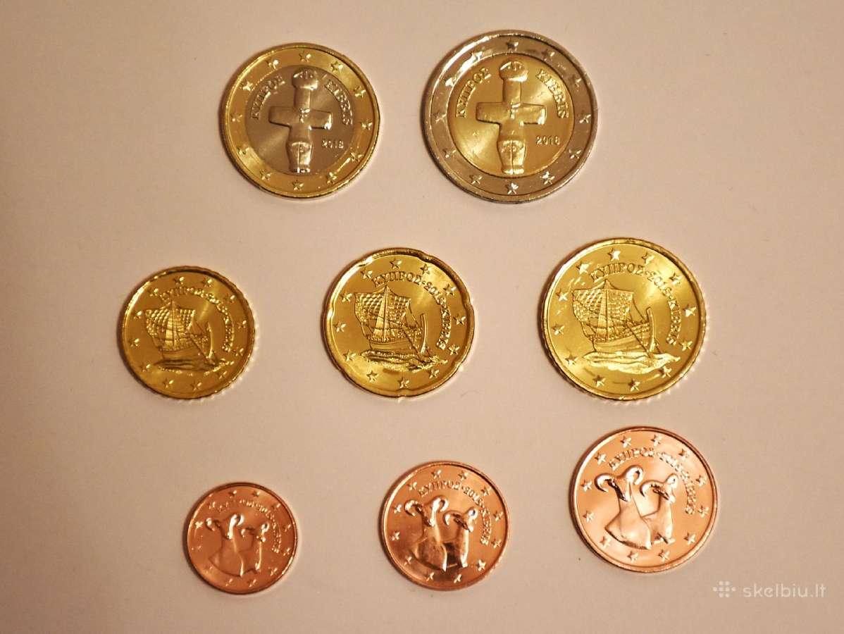 Kipras 2018, euro monetų Unc rinkinys (mainau)