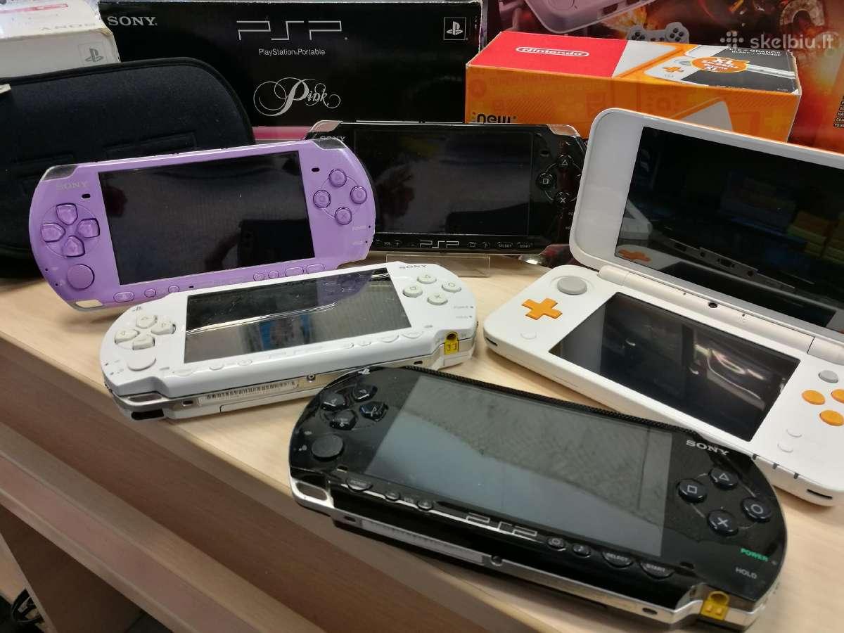 Naudotos Sony PSP konsolės / Nintendo 2ds/3ds