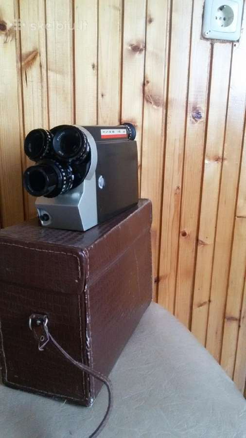 Antikvarinė filmavimo kamera. Pagaminta 1972 m.