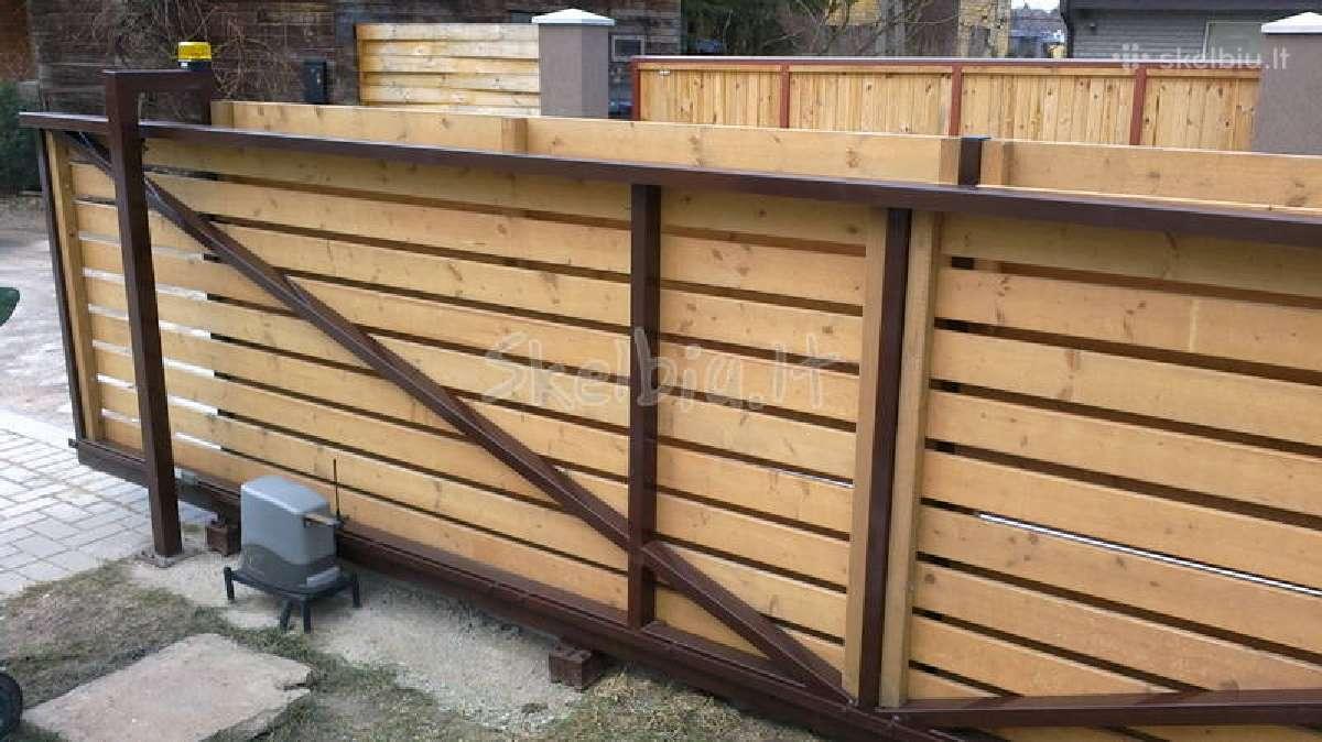 Medinės tvoros, vartai, statyba visoj lietuvoj