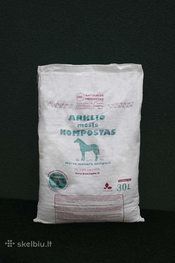 Kompostas, arklio mėšlo, bekvapis, grynas 100%
