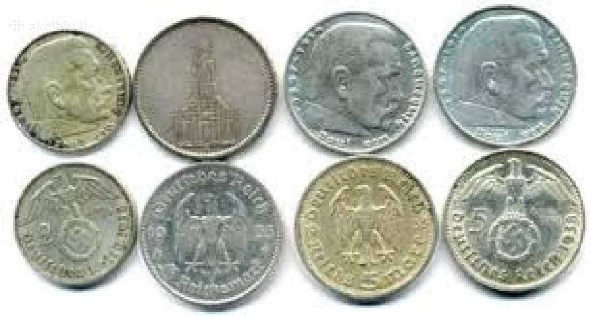 Brangiai perku auksines, sidabrines monetas !