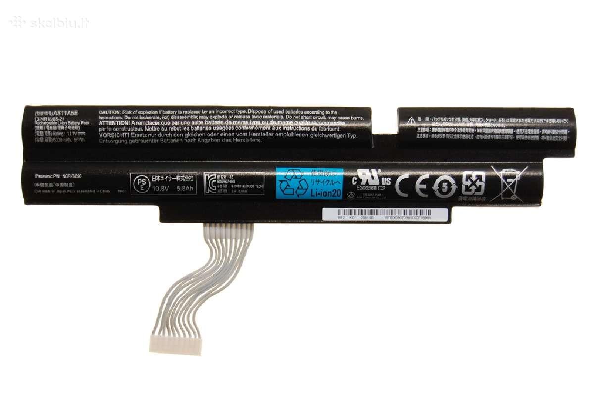 Naujos originalios baterijos acer as11a5e 49 eurai
