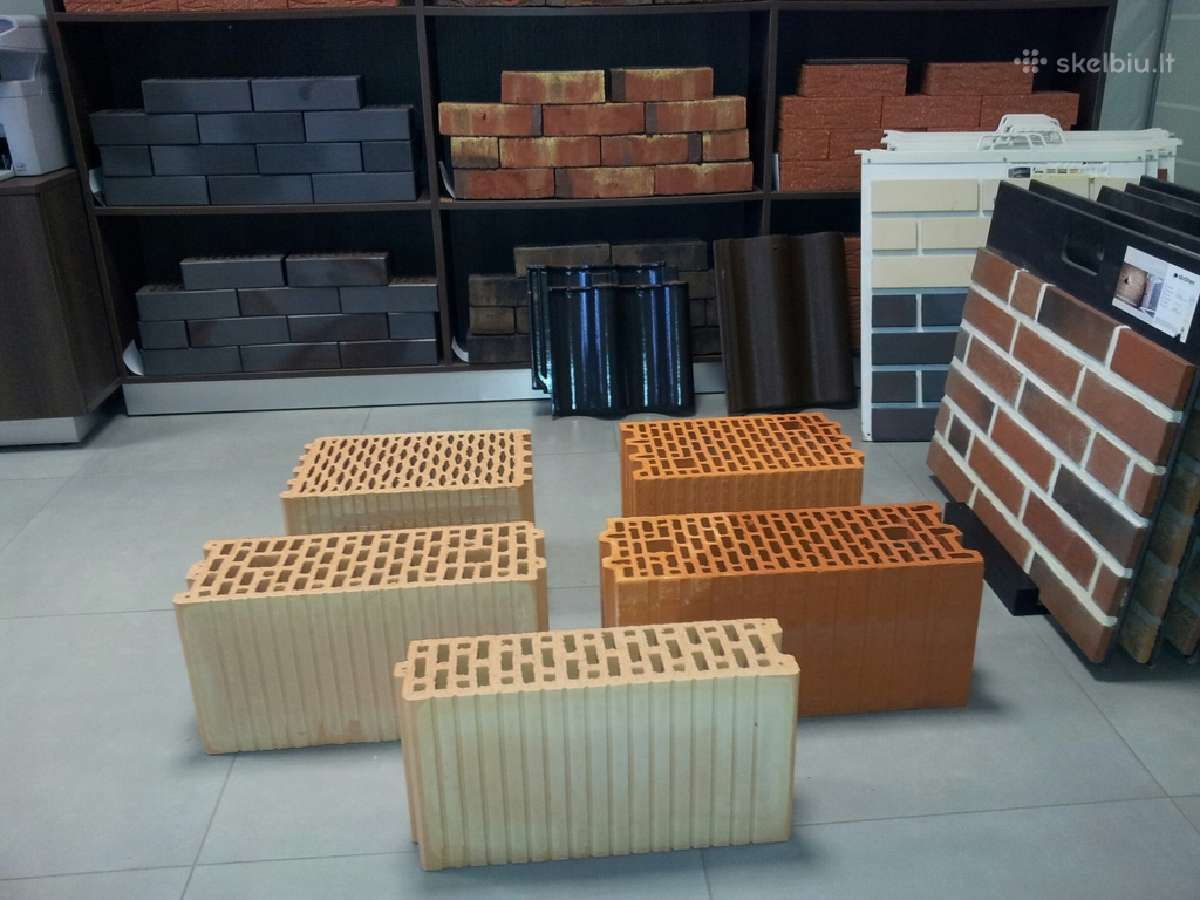 Blokeliai keramikiniai lode, wienerberger.