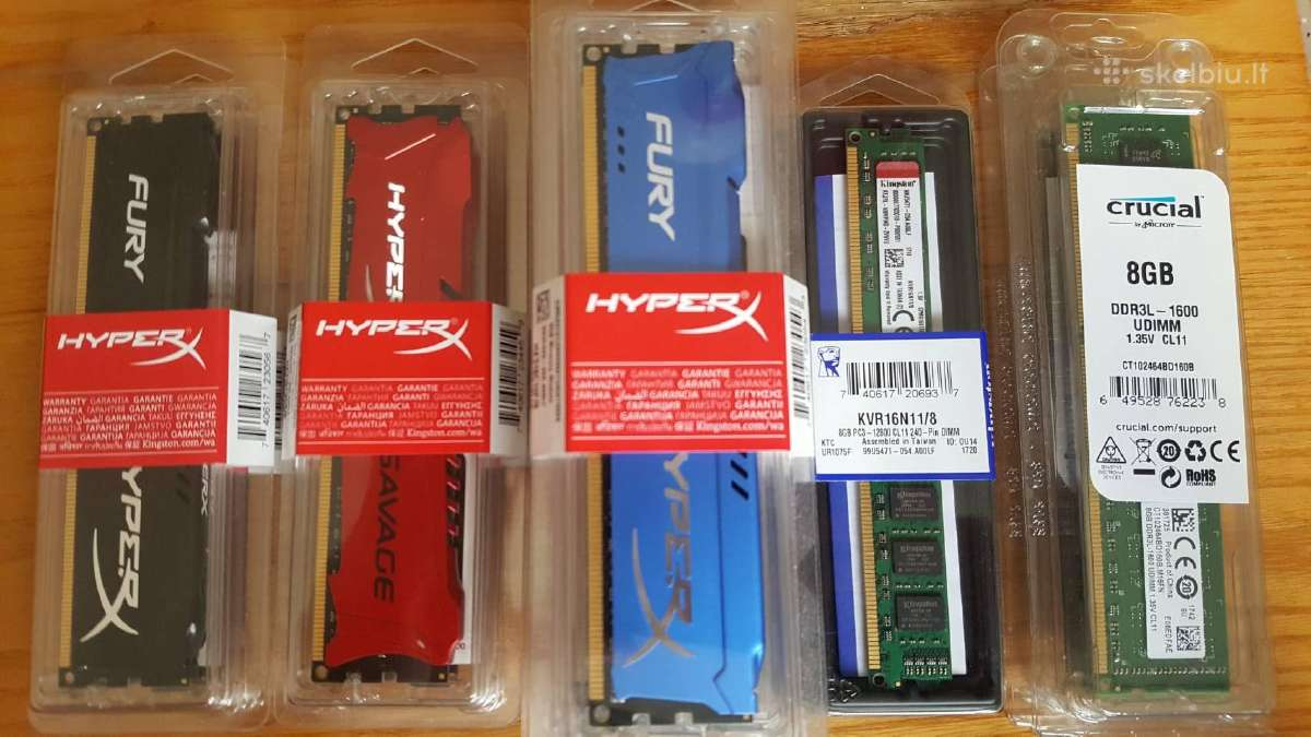 Nauji RAM Dimm 8gb Ddr3 Kingston Hyperx