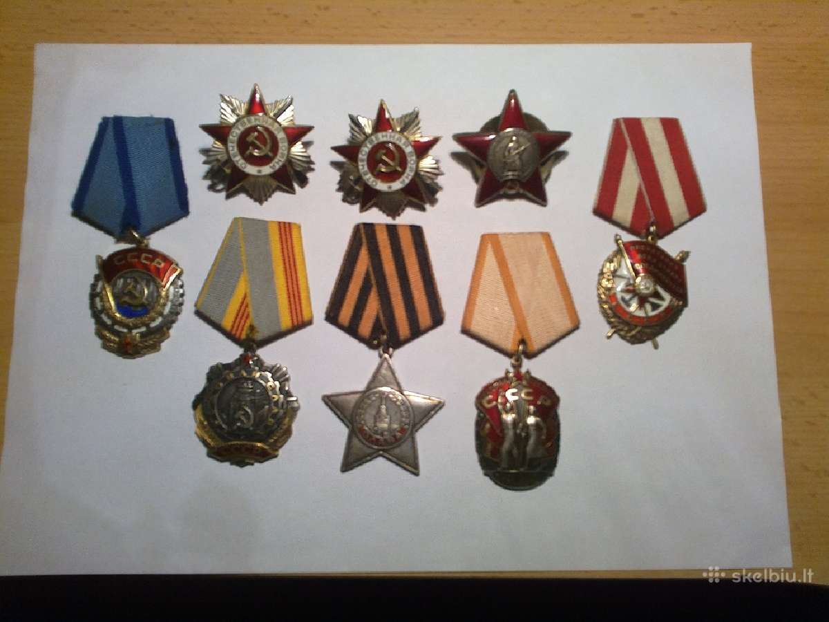Brangiausiai superku ordinus ir apdovanojimus
