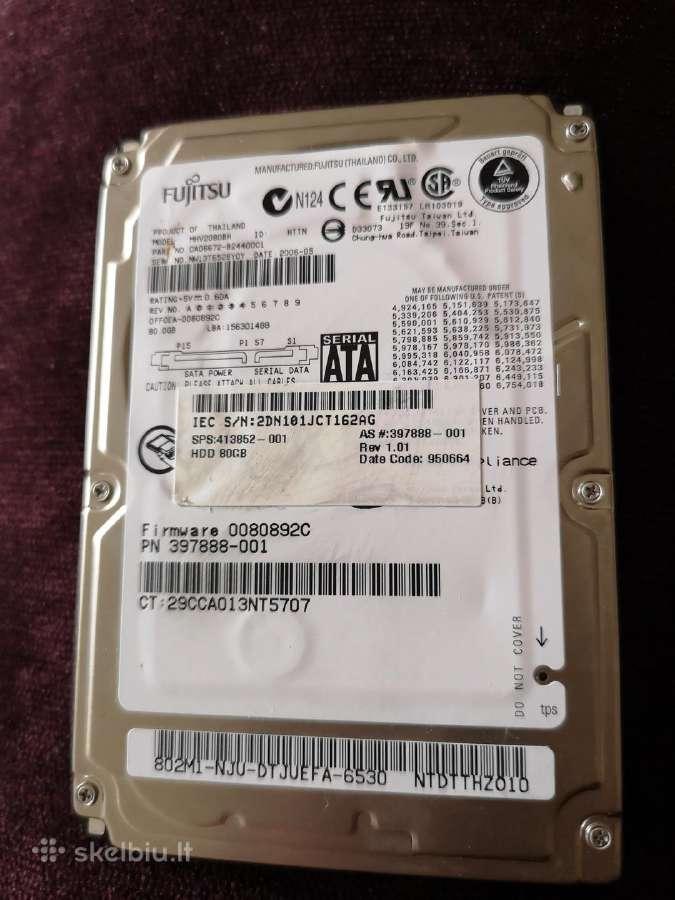 """Fujitsu HDD 2.5"""" 80gb"""