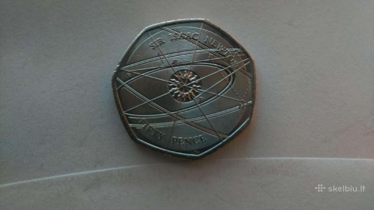 Jungtine Karalyste reta 50 pensu moneta