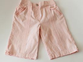 Rožiniai šortai-bridžai mergaitei