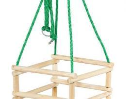 Medinės supynės su apsauga 8,70€